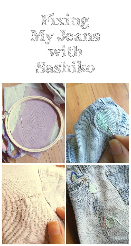 sashiko jeans repair