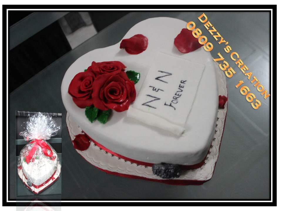 Double Heart Shaped Wedding Cakes