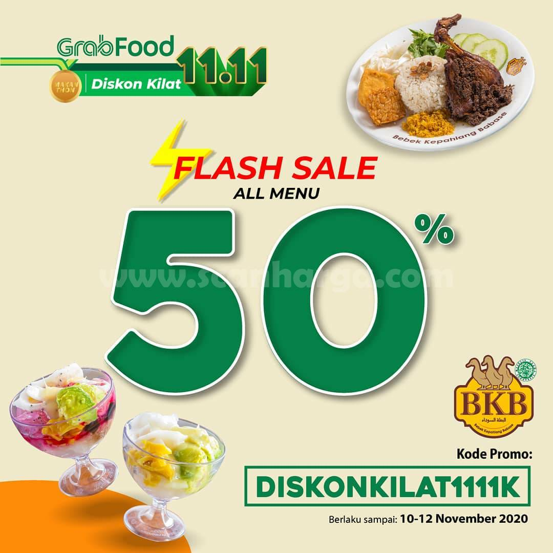 Promo Bebek BKB Flash Sale Diskon kilat 50% All menu via Grabfood