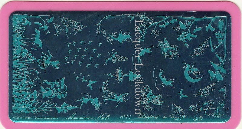 Lacquer Lockdown - nail art stamping blog, nail art stamping, Marianne Nails, Marianne Nails nail art stamping plates, nail art stamping plate review, new nail art stamping plates 2014, new nail art image plates 2015, diy nail art, stamping, stamping nail art, cute nail art ideas, french nail art stamping plates, indie nail art stamping plates, fairies, birds, flowers,