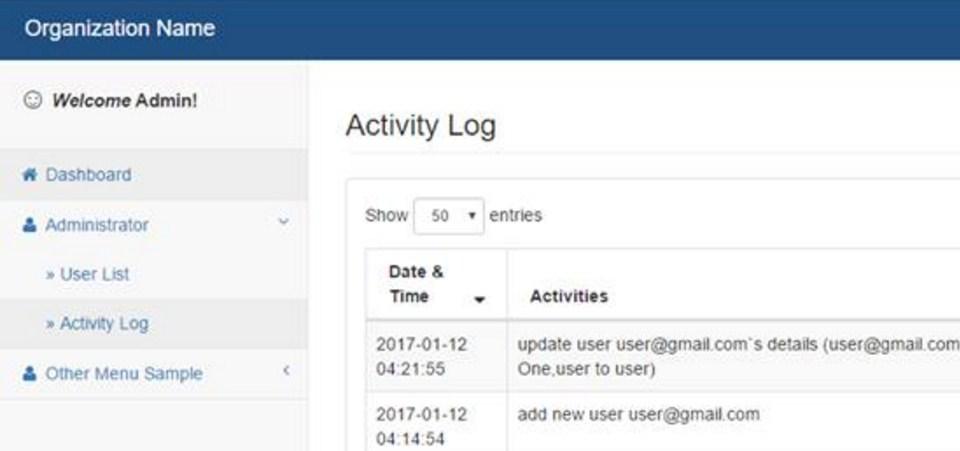 Codeigniter Log User Activity
