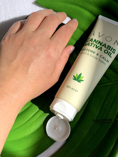 Avon Cannabis Sativa Oil Kenevir Restore Calm Yoğun El ve Vücut Kremi