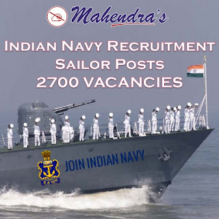 Indian Navy Recruitment 2019: Sailor Posts | 2700 Vacancies