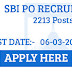 SBI PO 2213 Vacancies 2017: Last Date 6th March 2017