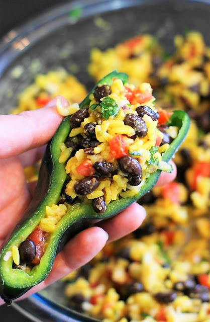 How to Make Southwestern Stuffed Poblano Peppers Image