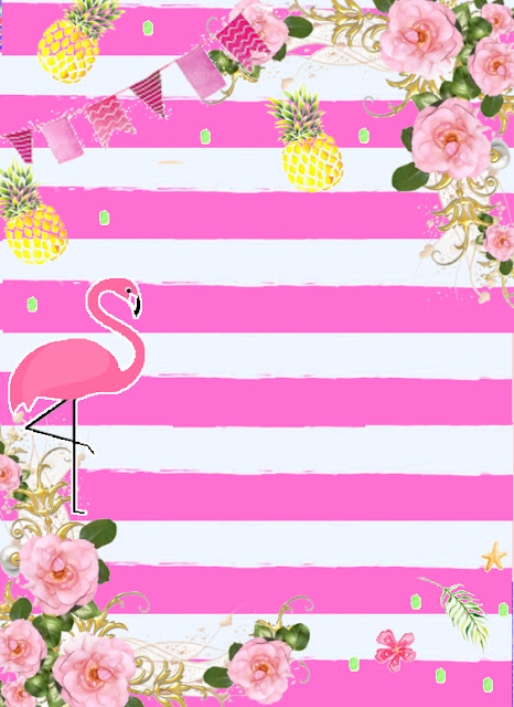 Convite Flamingo Free