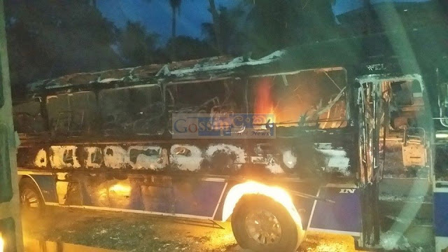Bus fire in alawwa