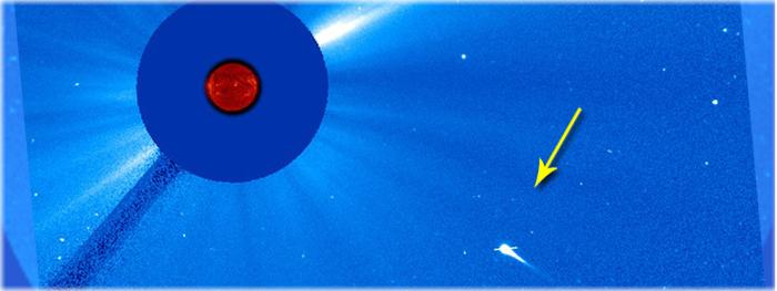 o Sol vai engolir um cometa