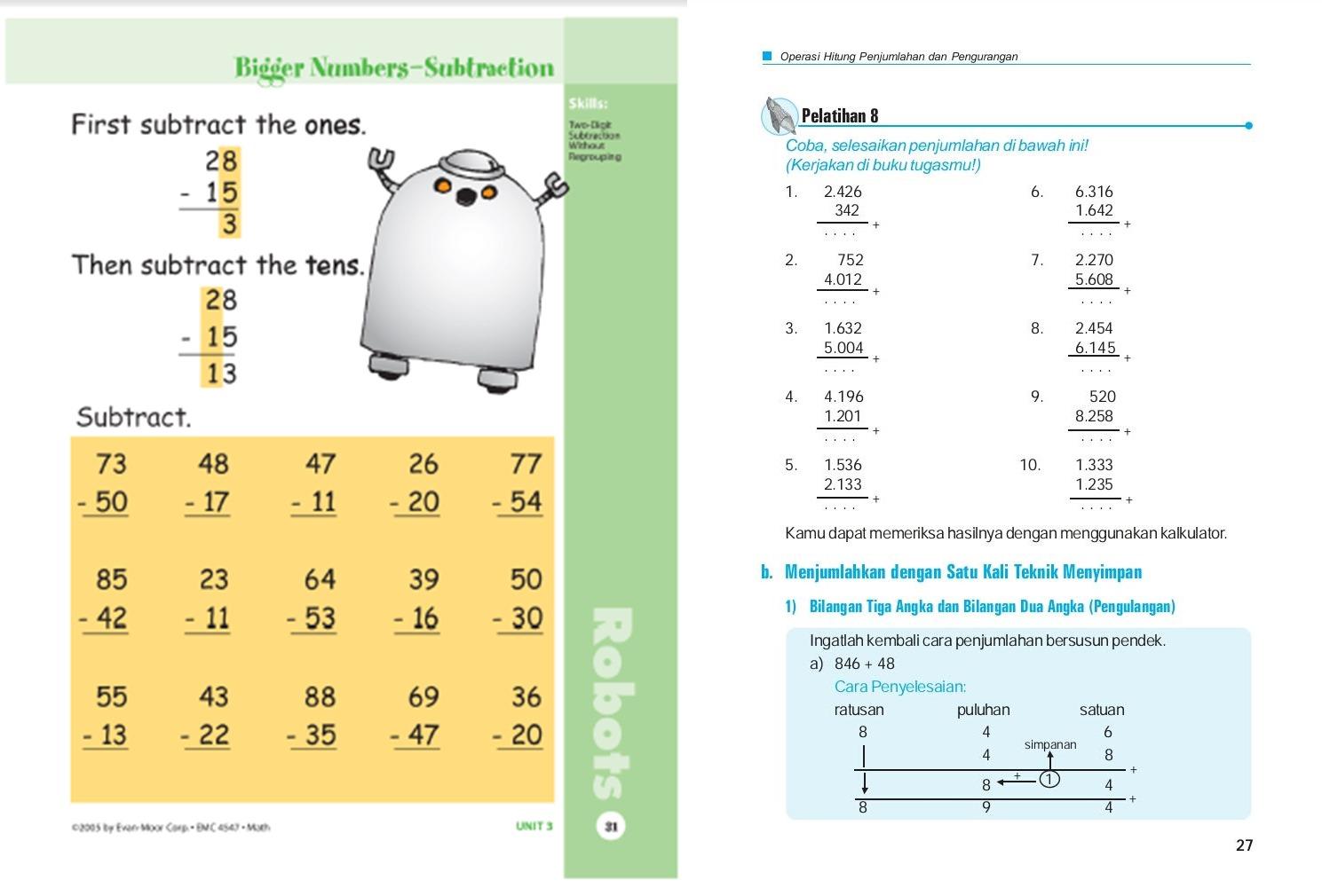 Memilih Worksheet Matematika