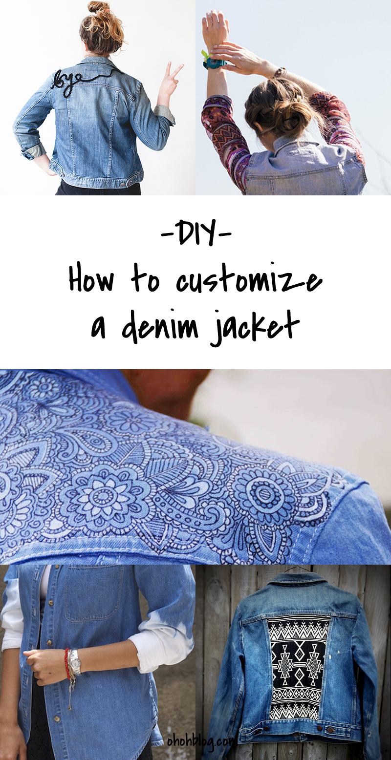 DIy to Try # Customized denim jackets - Ohoh Blog