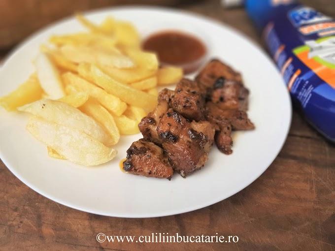 Tigania- carne de porc la tigaie