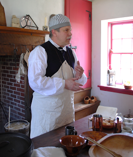 Colonial beer brewing demo at Graeme Park