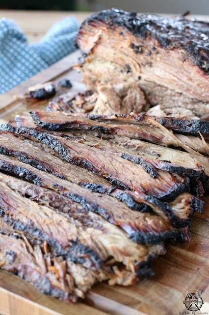 Wood Smoked Brisket recipe from Kickin Up Smoke