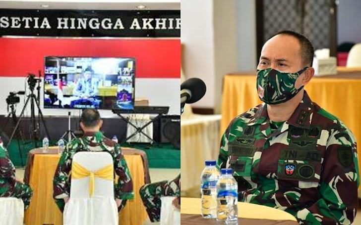 Semarak Halal Bil Halal Virtual Pangdam Hasanuddin Bersama Gubernur Sulsel
