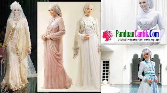 21 Model Gaun Pengantin Muslimah Syari Modern Elegan Terindah