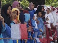 Begini Euforia Sabut Jokowi di Lombok Tengah