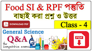 West Bengal Food SI Question Paper in Bengali