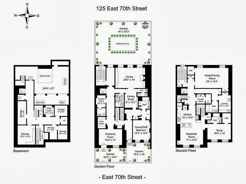 Typical Brownstone Floor Plan: The Devoted Classicist: Mellon-White Townhouse, Another