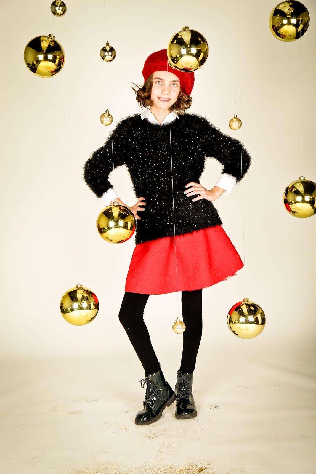 conjunto navideño, moda navidad