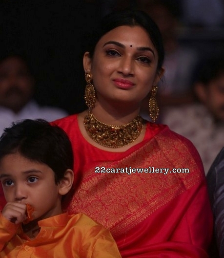 Director Surender Reddy Wife Deepa in Choker