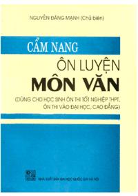 Cẩm Nang Ôn Luyện Môn Văn - Nguyễn Đăng Mạnh