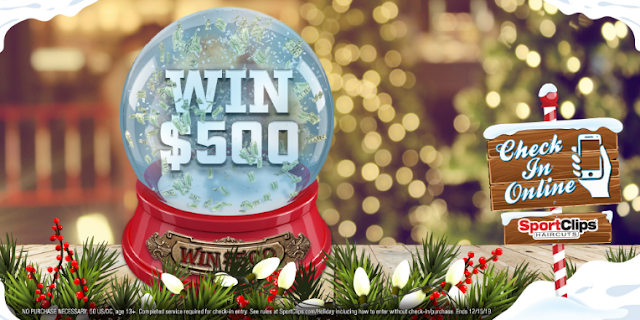Sports Clips are celebrating the Holidays by giving fans a chance to win $500 in their Holiday Halftime Sweepstakes! Enter daily for your chance to win!