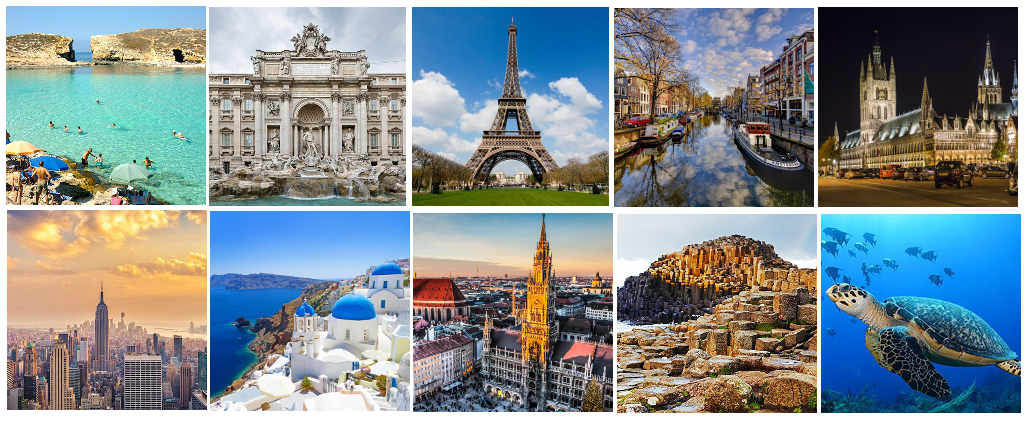 10 places in 10 years | Travel