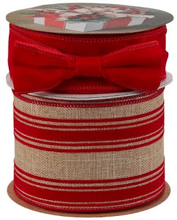 red striped holiday ribbon