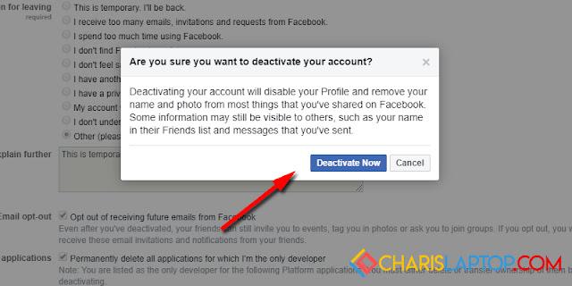 Cara Terbaru Menghapus Akun Facebook Sementara