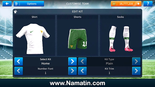 Seragam Dream League Soccer Timnas Indonesia
