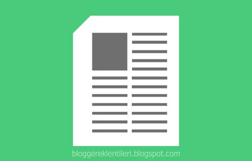 Blog Yazılarını 2 Sütuna Bölme Eklentisi