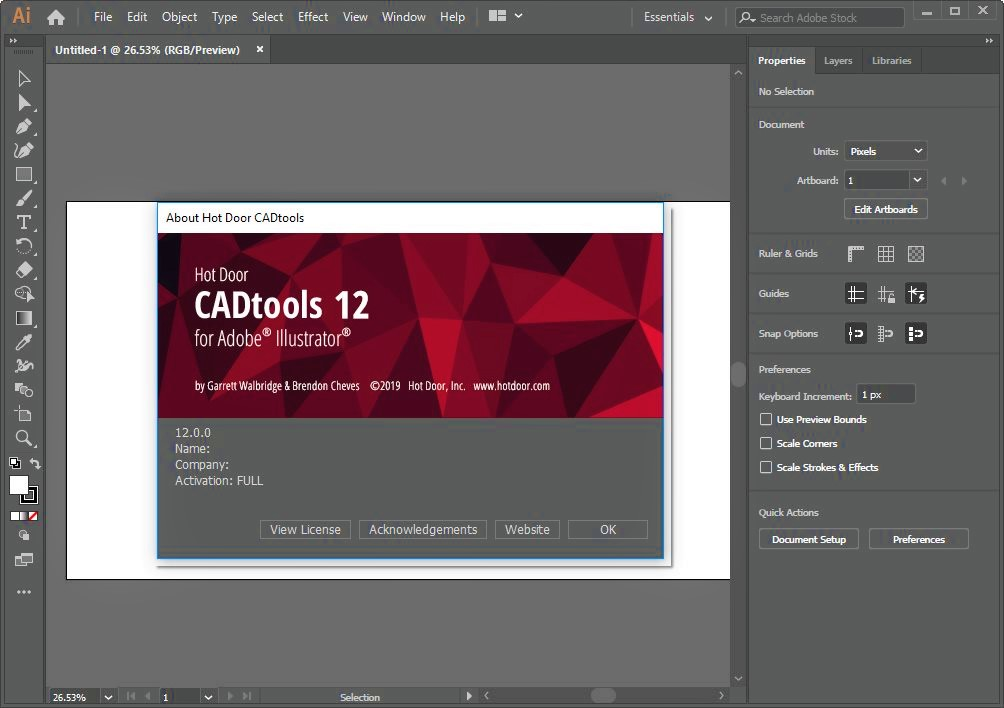 Hot Door CADtools for Adobe Illustrator Full Version