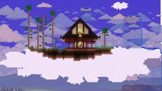 Afinal, o Japão possui belas construções, as quais ficam muito bem no mundo de Terraria