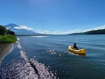 山中湖でパックラフト ローグライト