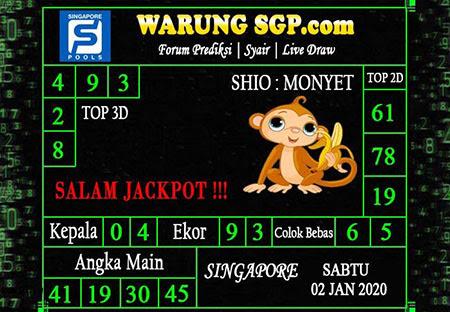 Prediksi Warung SGP Sabtu 02-01-2021