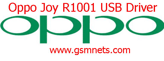 Oppo Joy R1001 USB Driver Download