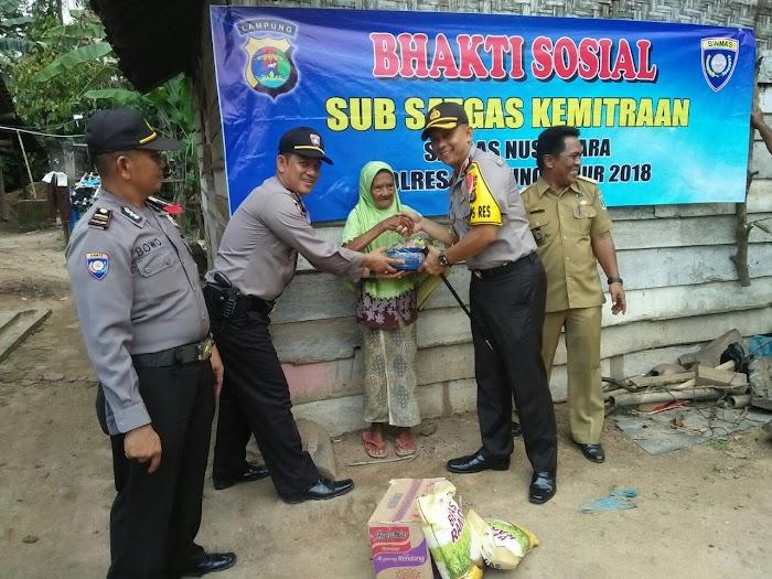 Kapolres Lampung Timur Melaksanakan Kegiatan Bakti Sosial