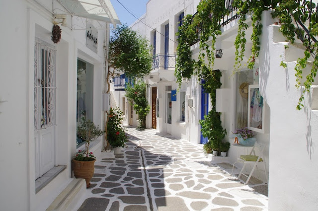 Streets of Parikia Paros Greece