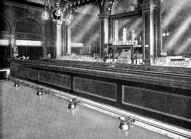 a 1904 hotel bar with cuspidors