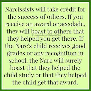 Narcissists steal credit