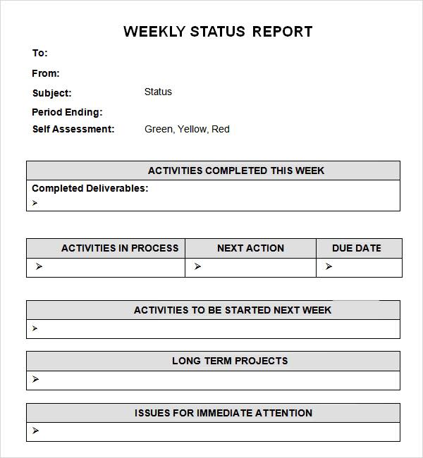 weekly status report tony buoi sang