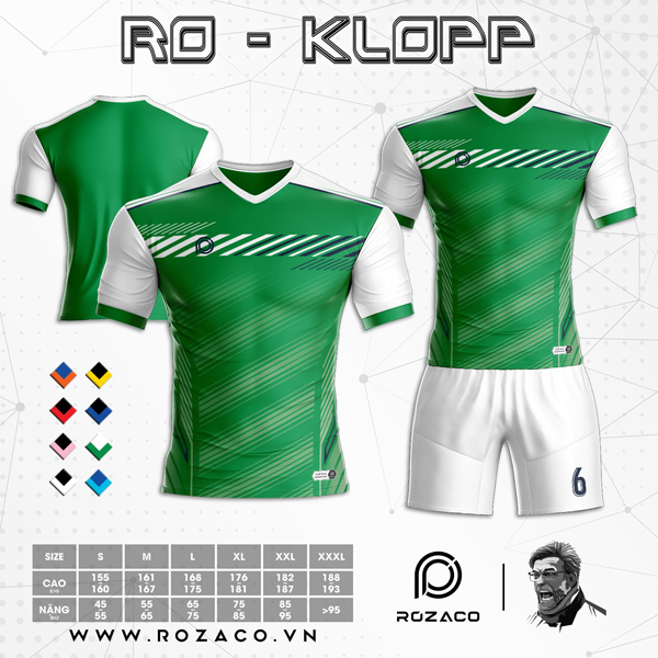 Áo Không Logo Rozaco RO-KLOPP Màu Xanh Lá