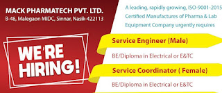 Mack Pharmatech Manufactures of Pharma & Lab Equipment Company Recruitment ITI, Diploma And BE Holders For Nashik
