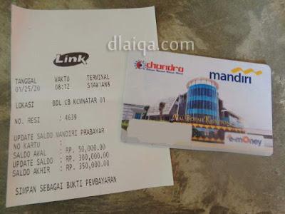 top up e-money Rp.300.000,-