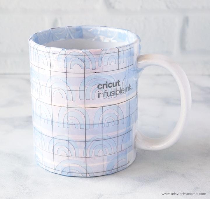 Cricut Mug with Tape