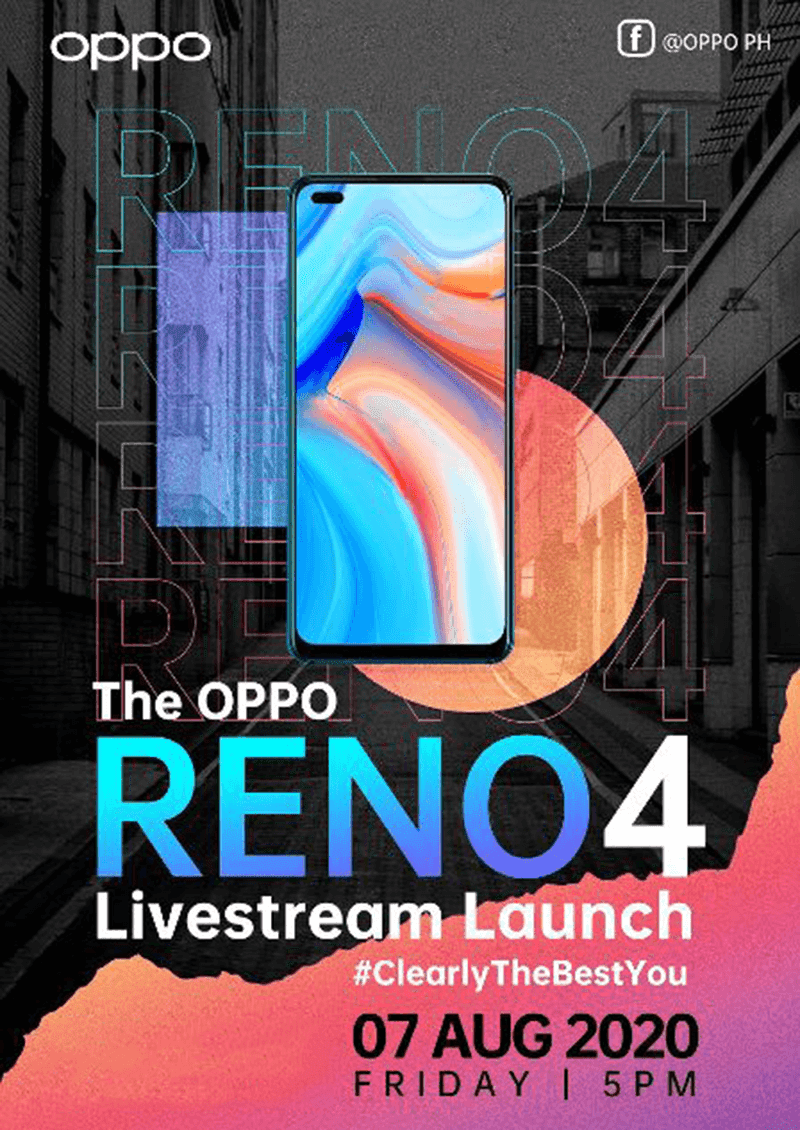 OPPO Reno4 will go official in PH on August 7