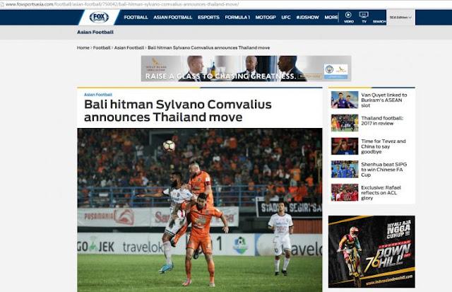 Kepindahan Comvalius menjadi sorotan media asing