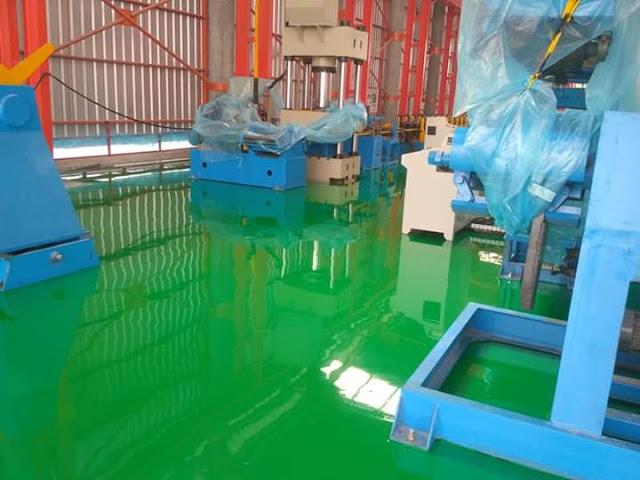 Jasa-epoxy-lantai-warna-green