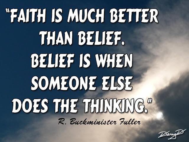Do you believe in faith