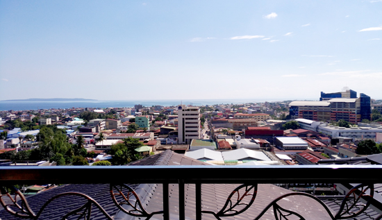 Davao City seen from the Presidential Suite of The Pinnacle Hotel and Suites